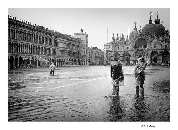 pluie sur la piazza San Marco