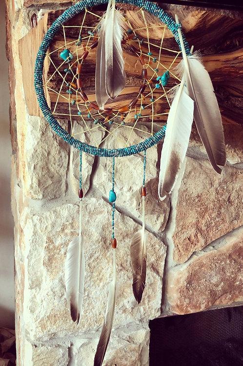 OUT IN THE STICKS: Custom Handmade Beaded Dreamcatcher
