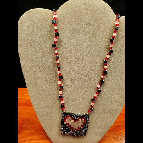 UNIQUE BEADS: Heart Mosaic Pendant Necklace