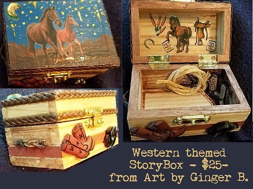 GINGER B: Western Themed Story box
