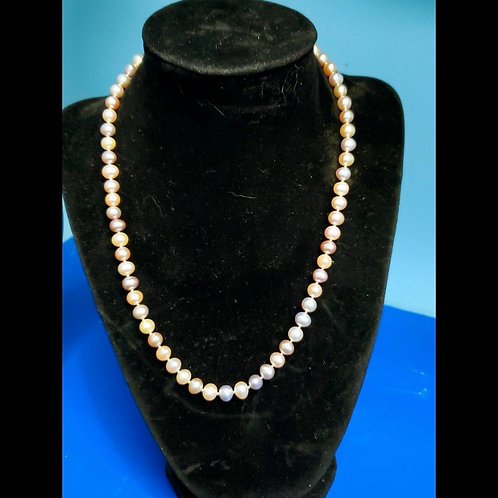 Pink And Purple Tone Pearl Necklace