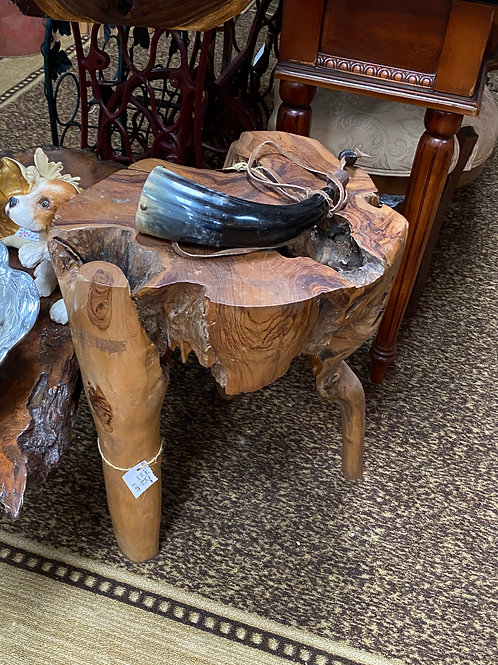 TEXAS TRAILS: Live oak custom stool or seat. Very sturdy/nice height.