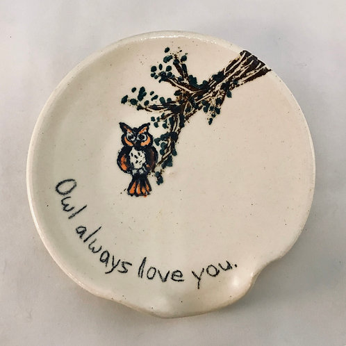 MONARCH: Owl Always Love You Spoon Rest