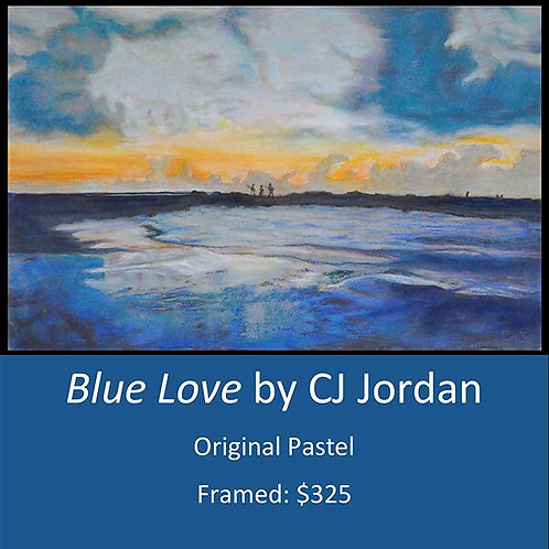 "MONARCH: ""Blue Love"" framed original pastel by CJ Jordan"