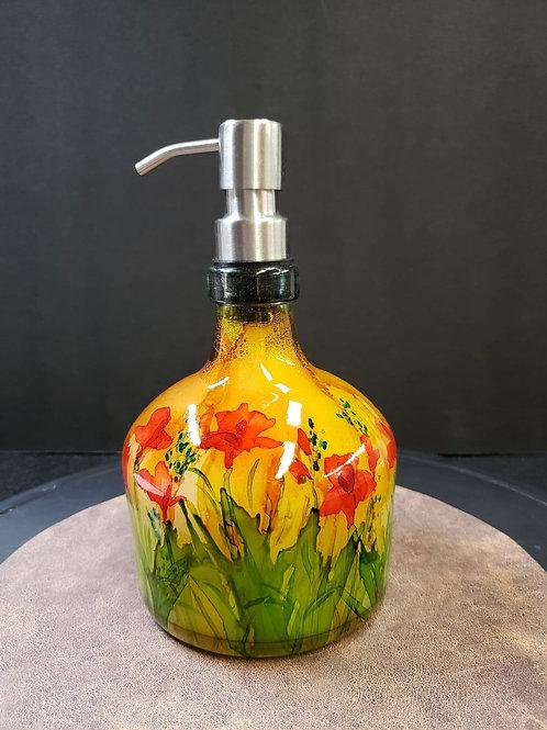 MONARCH: Colorful floral soap dispenser