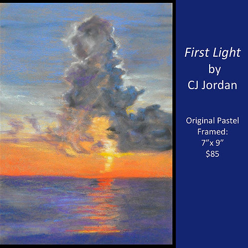 "MONARCH: ""First Light"" framed original pastel by CJ Jordan"