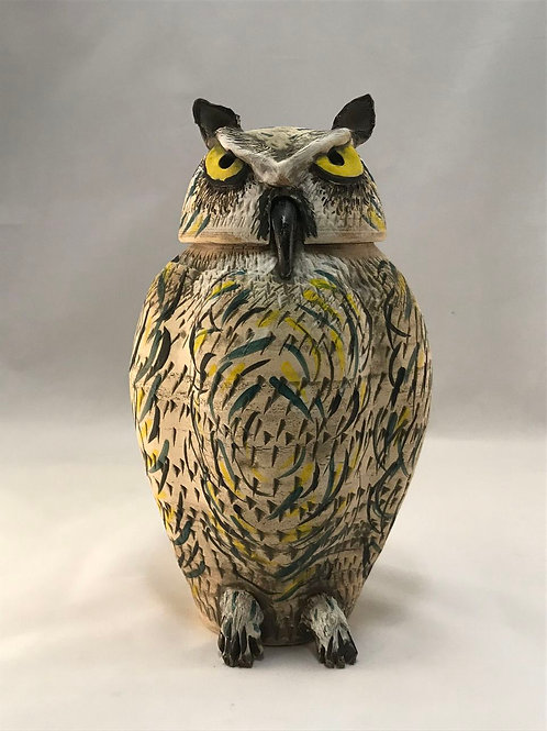 MONARCH: Great Horned Owl Jar