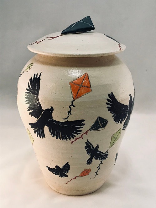 MONARCH: Ravens Play with Clay Stoneware