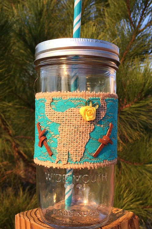 OUT IN THE STICKS: Mason Jar with Wrap