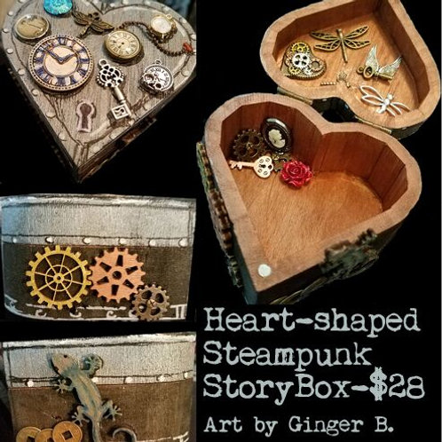 GINGER B: Heart-shaped Steampunk StoryBox