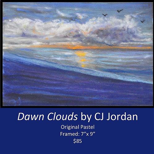 """MONARCH: """"Dawn Clouds"""" framed original pastel by CJ Jordan"""