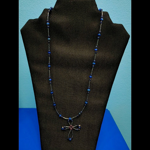 UNIQUE BEADS: Simple Beaded Cross Necklace