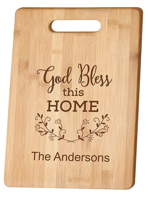 LIVING ROOM BOOKS & GIFTS: Personalized bamboo cutting board