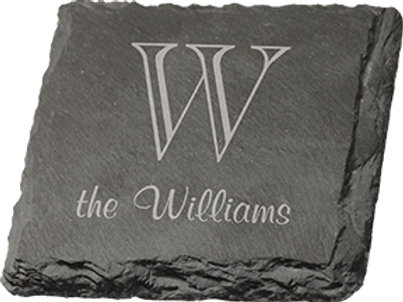 LIVING ROOM BOOKS & GIFTS: Personalized slate coaster