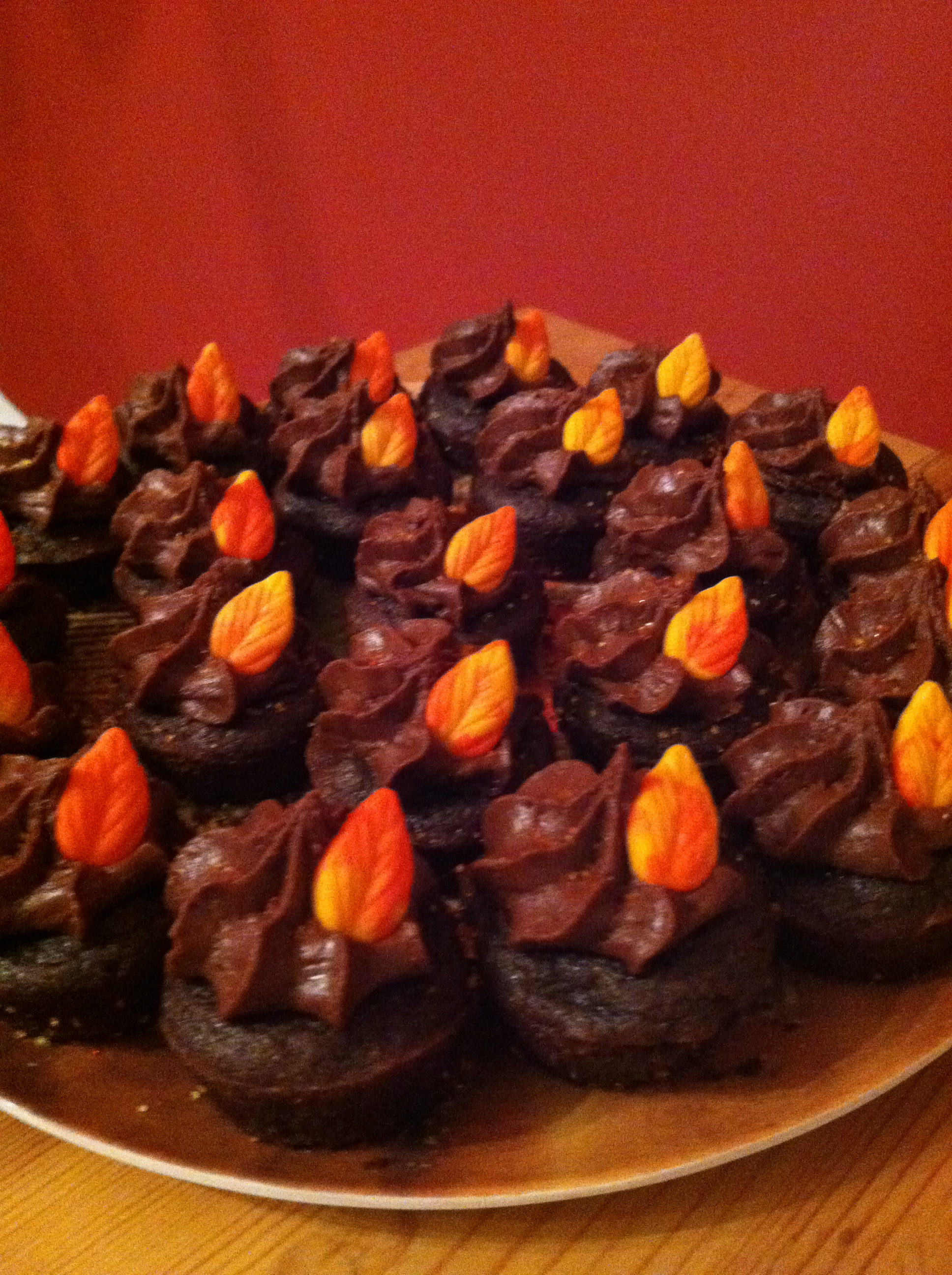 Autumn Leaves Gluten Free Vegan Cupcakes.png