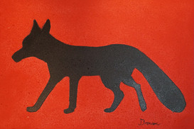 Premiere Fox Acryfarbe auf Leinwand / Acrylic paint on canvas 70cmx100cm
