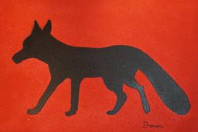Premiere Fox Acryfarbe auf Leinwand / Acrylic paint on canvas 70cmx100cm