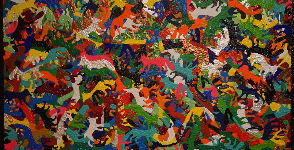 Zorro De La Vida -  A Reflection Of Life Acryfarbe auf Leinwand / Acrylic paint on canvas 70cmx100cm