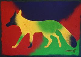 Psychedelic Fox Acryfarbe auf Leinwand / Acrylic paint on canvas 70cmx100cm