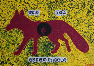 The Hendrix Experience Fox Acryfarbe auf Leinwand / Acrylic paint on canvas 70cmx100cm