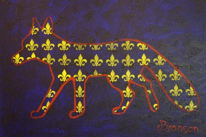 Lily Fox Acryfarbe auf Leinwand / Acrylic paint on canvas 70cmx100cm