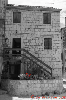 Red On Black and White