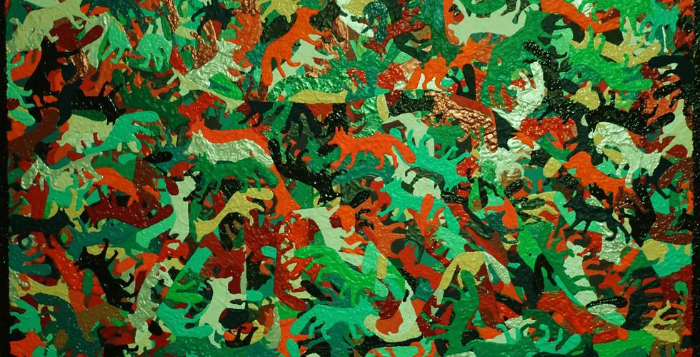 """Zorro De La Vida  Eine Reflexion des Lebens    Jedes Lebewesen besteht exakt aus dem was es umgibt, körperlich und spirituell. Angefangen auf atomarer Ebene, existieren die Atome aus denen unsere Zellen bestehen, schon seit Anbeginn der Zeit und waren, bevor sie zu uns geworden sind schon allerhand anderes verrücktes Zeug.  Permanent findet ein Austausch zwischen Körper und Umwelt statt, gehen Teile der Umgebung in ein Lebewesen über oder werden Teile des Lebewesens an seine Umwelt abgegeben. Die Luft die wir atmen wurde schon unzählige Male von anderen eingeatmet, das Wasser das wir trinken schon x-mal getrunken und ausgeschieden...seitdem es Lebewesen gibt. ;-)  Und damit wir das heute noch können, wurde alles in einem äußerst komplexen aber effektiven Kreislaufsystem, basierend auf den durch die Interaktion miteinander verbundenen Lebewesen, immer wieder aufbereitet, verbraucht, aufbereitet, verbraucht...    Psychologisch gesehen werden wir von Geburt bis zum Tod von unserer Umwelt geprägt. Jede Erfahrung die wir machen, Menschen die uns umgeben, Bücher die wir lesen, viele kleine Faktoren führen zu einem bestimmten Weltbild. Einer sehr persönlichen Reflektion des eigenen Lebens und einer individuellen Wahrnehmung der Umwelt. Diese vielen kleinen Farbkleckse, die als Gesamtbild unsere Weltanschauung ergeben, werden im Laufe des Lebens immer weiter ergänzt und können den Charakter des Gesamtkunstwerks """"Leben"""" mit der Zeit immer wieder ändern. Umrahmt ist das Ganze von einem tiefen Schwarz all jener Ding die wir niemals sehen, erleben, wissen werden...oder wollen.    Von Außen gesehen ist das Leben eine Ansammlung von verschiedensten Ereignissen. Es lässt sich immer aus verschiedenen Blickwinkeln betrachten und kann mitunter vollkommen unterschiedlich interpretiert werden.  Selbst wenn es gerade in all seinen verschiedensten Facetten leicht und farbig erscheint, ist es dennoch gespickt mit kleinen Dunklen Flecken. Andererseits werden auch in den dunkelsten Abgründe"""
