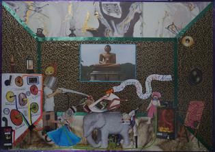 Replacing The Pesticides That The Fascist Bernd H. Has Spread Mixed Media / Collage 42cmx59,5cm