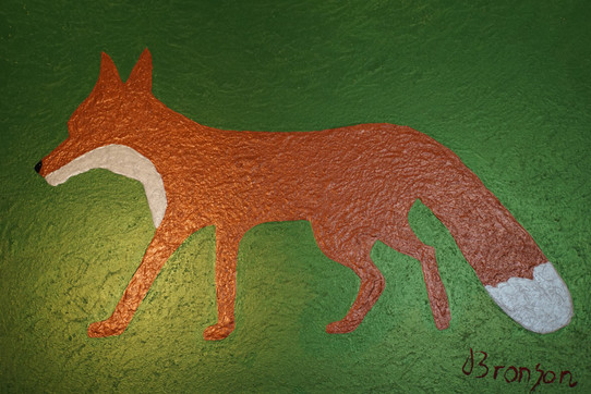 Shiny Fox Acryfarbe auf Leinwand / Acrylic paint on canvas 70cmx100cm