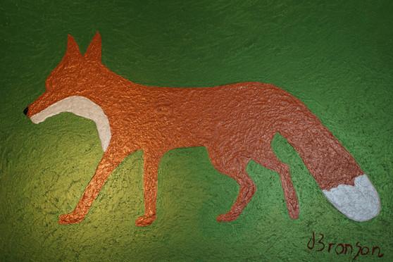 Shiny Fox Acryfarbe auf Leinwand / Acrylic paint on canvas 70cmx100cm