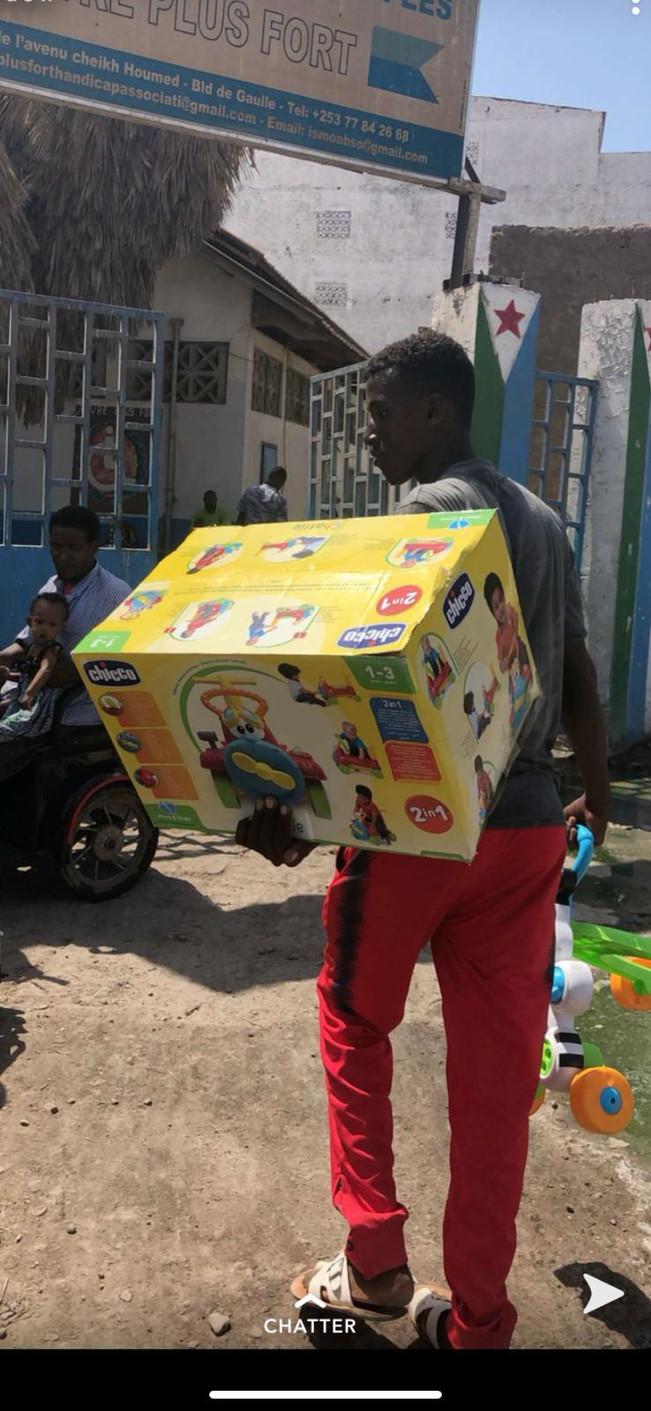 Distribution de jouets !