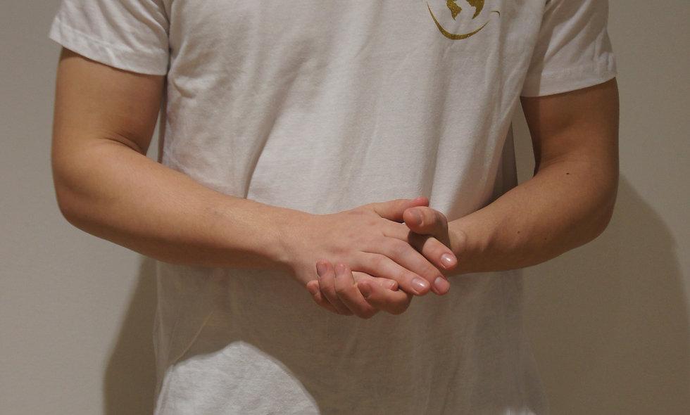 T-shirt Sourire d'enfant Blanc- Logo Gold