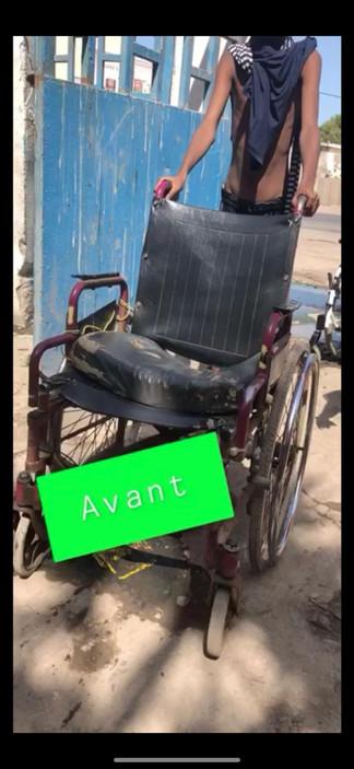 Ancien fauteuil roulant médiocre