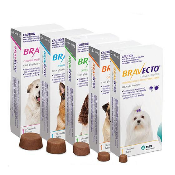 Bravecto works fast and provides your pet with long-lasting protection against fleas, ticks and mites. A single dose of Bravecto provides longer protection than standard monthly doses, so you can enjoy peace of mind with fewer chances to forget a treatment. It´s simple and convenient working for 3 months against fleas and 4 months against ticks.