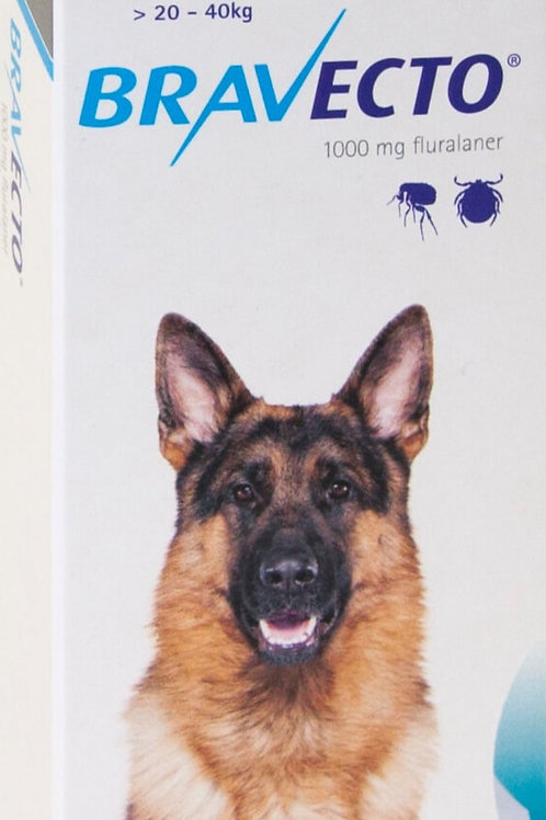 Bravecto for dogs 20 - 40kg