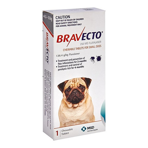 Bravecto for dogs 4 - 10kg