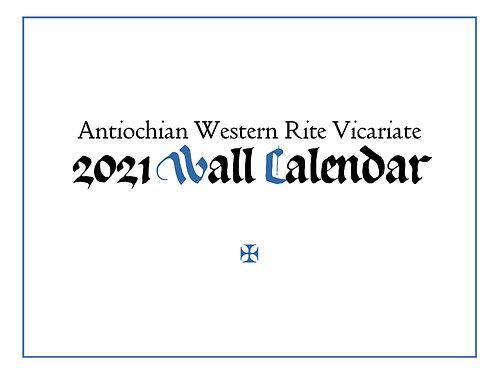 Antiochian Western Rite Vicariate 2021 Wall Calendar