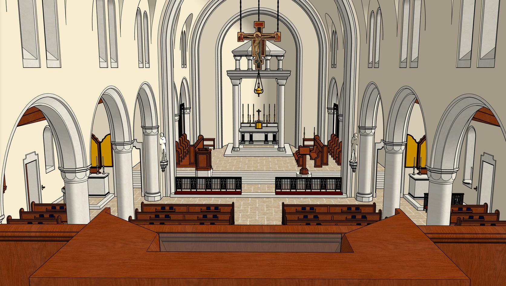 12 Choir Loft Center View