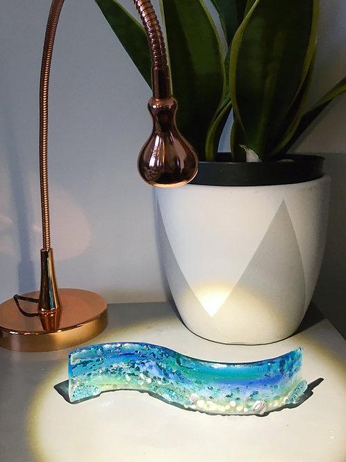 Mini Beach and Sea Fused Glass Wave