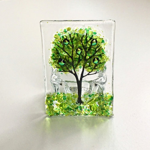 Mini Green Tree Tealight Holder