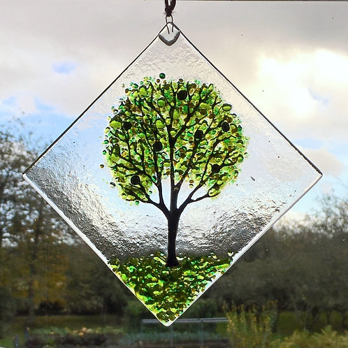 Large Green Tree Suncatcher
