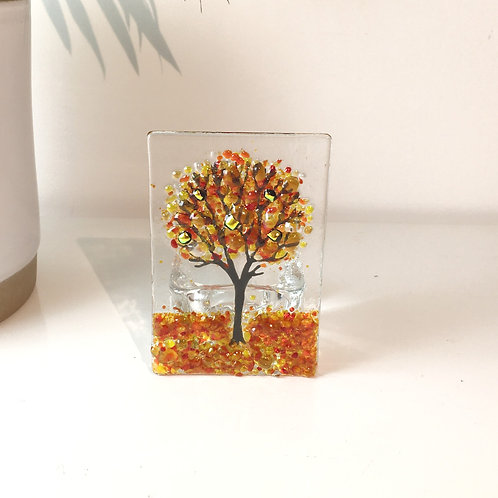 Mini Autumn Tree Tealight Holder
