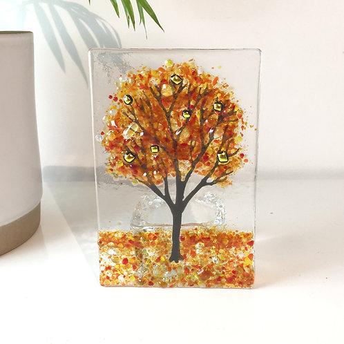 Large Autumn Tree Tealight Holder