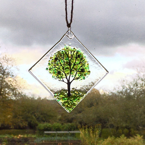 Mini Green Tree Suncatcher