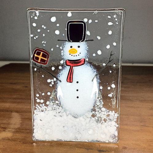 Large Snowman Tealight Holder
