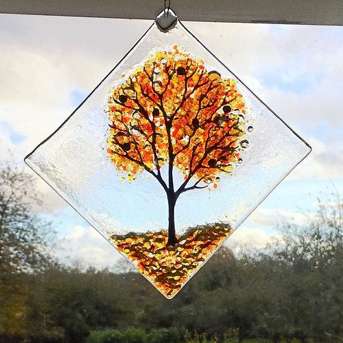 Large Autumn Tree Suncatcher
