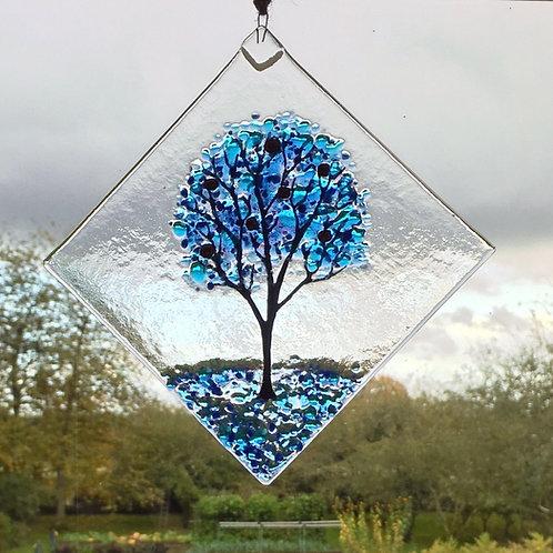 Large Blue Tree Suncatcher