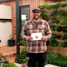 Andy Bending Show Garden RHS Silver Gilt Award