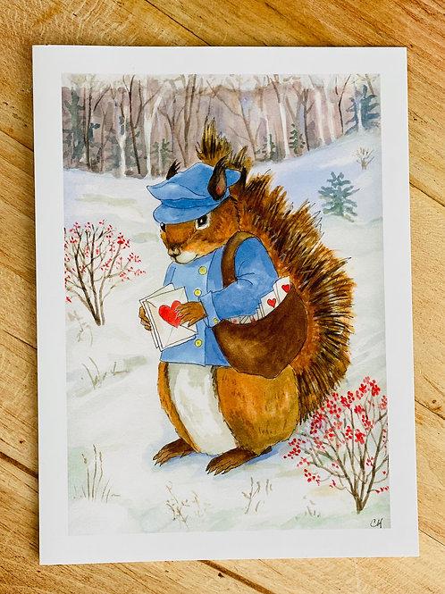 Squirrel Love Card