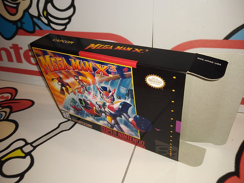 Mega Man X3 Box